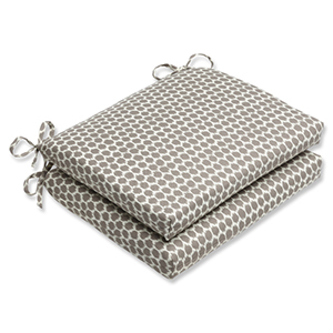 Brown Outdoor Seeing Spots Sterling Squared Corners Seat Cushion, Set of 2