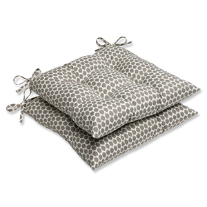Brown Outdoor Seeing Spots Sterling Wrought Iron Seat Cushion, Set of 2