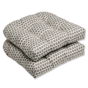 Brown Outdoor Seeing Spots Sterling Wicker Seat Cushion, Set of 2