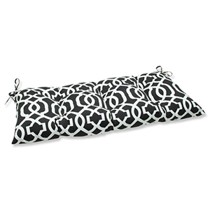 Black and White Outdoor New Geo Black and White Wrought Iron Loveseat Cushion