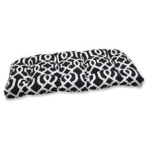 Black and White Outdoor New Geo Black and White Wicker Loveseat Cushion