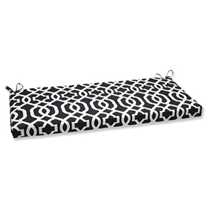 Black and White Outdoor New Geo Black and White Bench Cushion