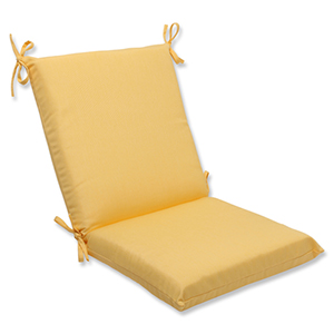 Canvas Yellow Squared Corner Chair Cushion with Sunbrella Fabric