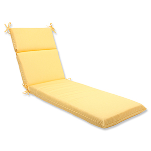 Canvas Yellow Chaise Lounge Cushion with Sunbrella Fabric