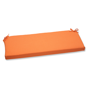 Canvas Tangerine Orange Bench Cushion with Sunbrella Fabric