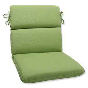 Canvas Green Rounded Corner Chair Cushion with Sunbrella Fabric