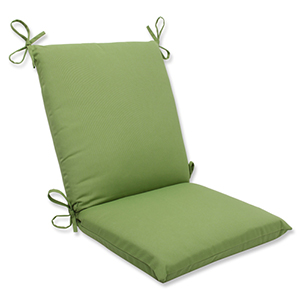 Canvas Green Squared Corner Chair Cushion with Sunbrella Fabric