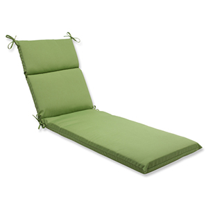 Canvas Green Chaise Lounge Cushion with Sunbrella Fabric
