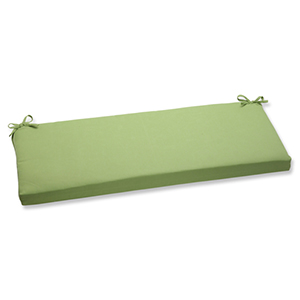 Canvas Green Bench Cushion with Sunbrella Fabric