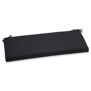 Canvas Black Bench Cushion with Sunbrella Fabric