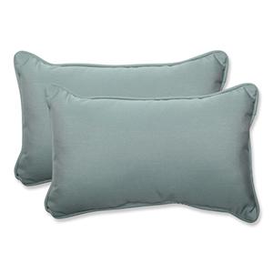 Canvas Blue Rectangular Throw Pillow Sunbrella Fabric, Set of 2