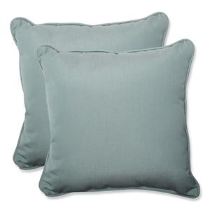 Canvas Blue Square 18.5-Inch Throw Pillow Sunbrella Fabric, Set of 2