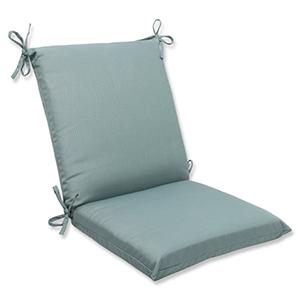 Canvas Blue Squared Corner Chair Cushion with Sunbrella Fabric
