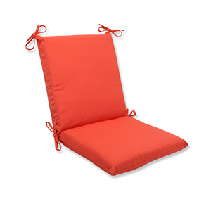 Canvas Orange Squared Cushion with Sunbrella Fabric