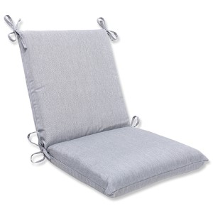 Canvas Granite Outdoor Squared Corners Chair Cushion with Sunbrella Fabric