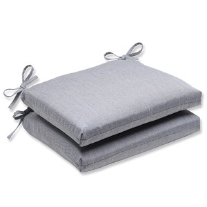 Canvas Granite Outdoor Squared Corners Seat Cushion with Sunbrella Fabric, Set of Two