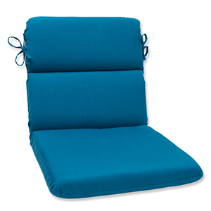 Spectrum Blue Rounded Corner Chair Cushion with Sunbrella Fabric