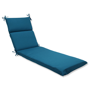 Spectrum Blue Chaise Lounge Cushion with Sunbrella Fabric