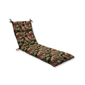 Vagabond Brown and Multicolored Chaise Lounge Cushion with Sunbrella Fabric
