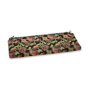 Vagabond Brown and Multicolored Bench Cushion with Sunbrella Fabric