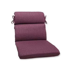 Rave Vineyard Purple Outdoor Rounded Corner Chair Cushion