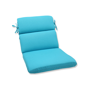 Veranda Blue Outdoor Rounded Corner Chair Cushion