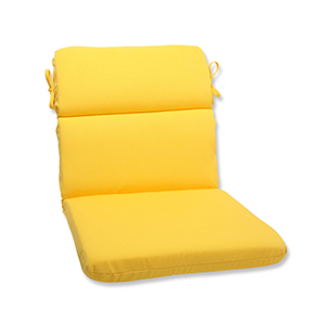 Fresco Yellow Outdoor Rounded Corner Chair Cushion