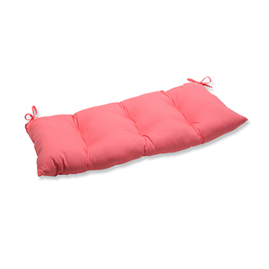 Fresco Pink Outdoor Wrought Iron Loveseat Cushion
