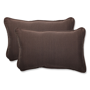 Forsyth Brown Outdoor Rectangular Throw Pillow, Set of 2