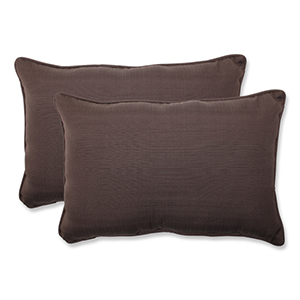 Forsyth Brown Outdoor Oversized Rectangular Throw Pillow, Set of 2