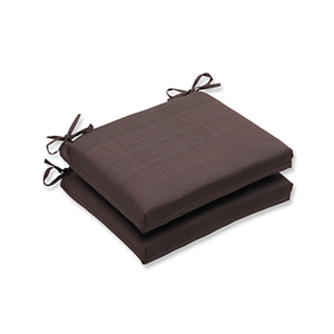 Forsyth Brown Outdoor Squared Corner Seat Cushion, Set of 2