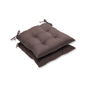 Forsyth Brown Outdoor Wrought Iron Seat Cushion, Set of 2