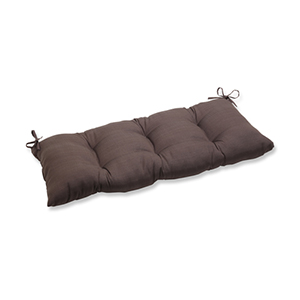 Forsyth Brown Outdoor Wrought Iron Loveseat Cushion