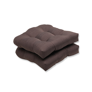 Forsyth Brown Outdoor Wicker Seat Cushion, Set of 2