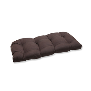 Forsyth Brown Outdoor Wicker Loveseat Cushion