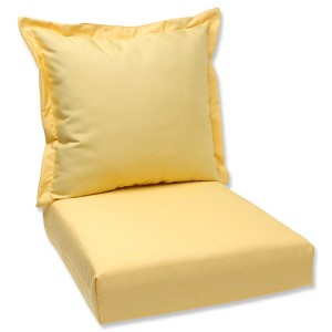 Canvas Buttercup Outdoor Deep Seating Cushion and Back Pillow with Sunbrella Fabric