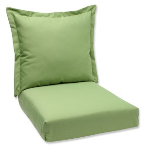 Canvas Ginko Outdoor Deep Seating Cushion and Back Pillow with Sunbrella Fabric