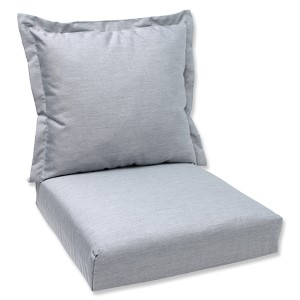 Canvas Granite Outdoor Deep Seating Cushion and Back Pillow with Sunbrella Fabric