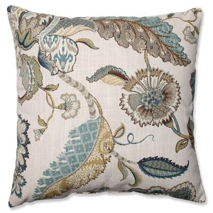 Finders Keepers Blue 16.5-Inch Square Throw Pillow
