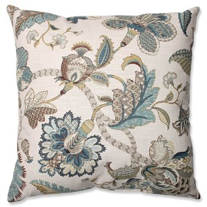 Finders Keepers Blue 24.5-Inch Square Floor Pillow