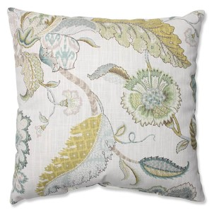 Finders Keepers Peacock Blue 16.5-Inch Square Throw Pillow