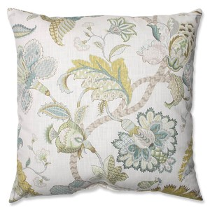 Finders Keepers Peacock Blue 24.5-Inch Square Floor Pillow