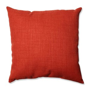 Pure Shock Red 18-Inch Square Throw Pillow