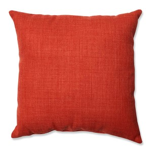 Pure Shock Red 16.5-Inch Square Throw Pillow