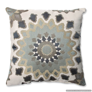 Marais English Garden Blue 16.5-Inch Square Throw Pillow