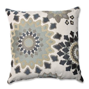 Marais English Garden Blue 18-Inch Square Throw Pillow