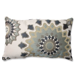 Marais English Garden Blue Rectangular Throw Pillow