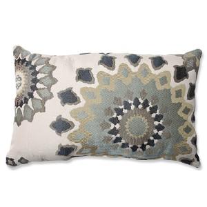Marais English Garden Blue Rectangular Throw Pillow