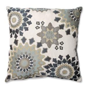 Marais English Garden Blue 24.5-Inch Square Floor Pillow