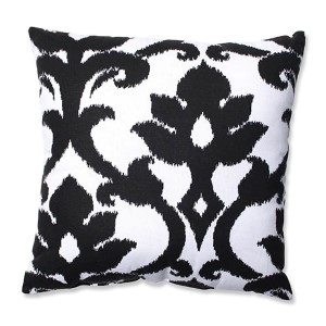 Azzure Black and White 16.5-Inch Square Throw Pillow